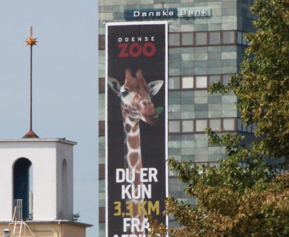Kæmpebanner Odense Zoo